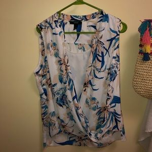 Alfani floral sleeveless blouse 14